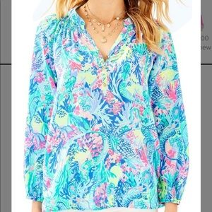 Lilly Pulitzer Elsa Top. Mermaids Cove. Size S.